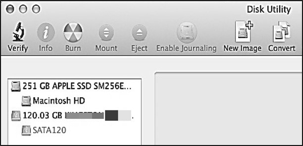 3.4 Formatting an HDD Formatting in Mac OS USB 3.0 to SATA Hard Drive Docking Station 1. Insert a drive and turn on the Dock 2.