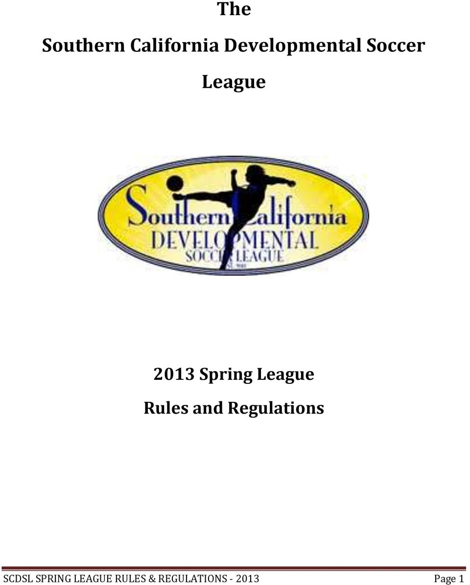 Spring League Rules and Regulations