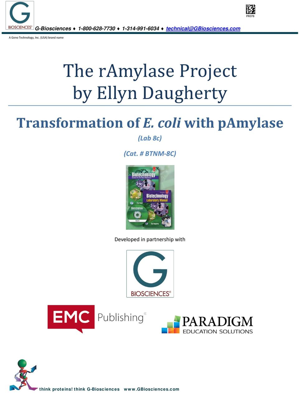 (USA) brand name The ramylase Project by Ellyn Daugherty Transformation of E.