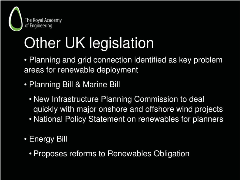 Commission to deal quickly with major onshore and offshore wind projects National