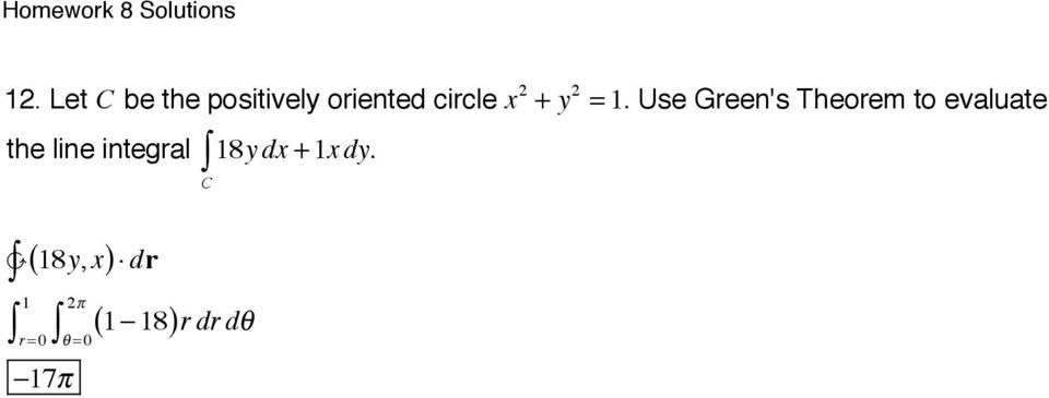 Use Green's Theorem to evaluate the