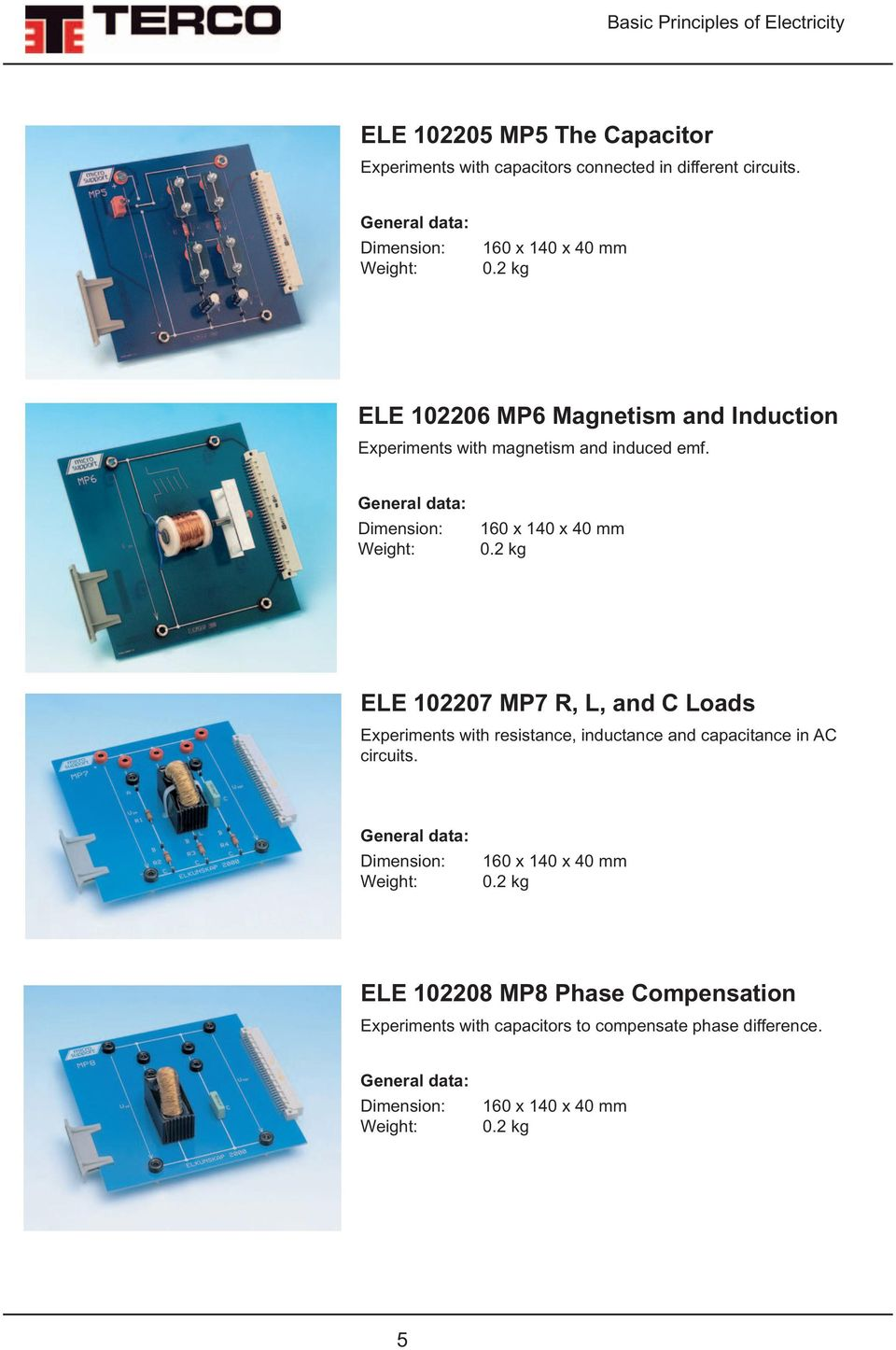 ELE 102207 MP7 R, L, and C Loads Experiments with resistance, inductance and capacitance in