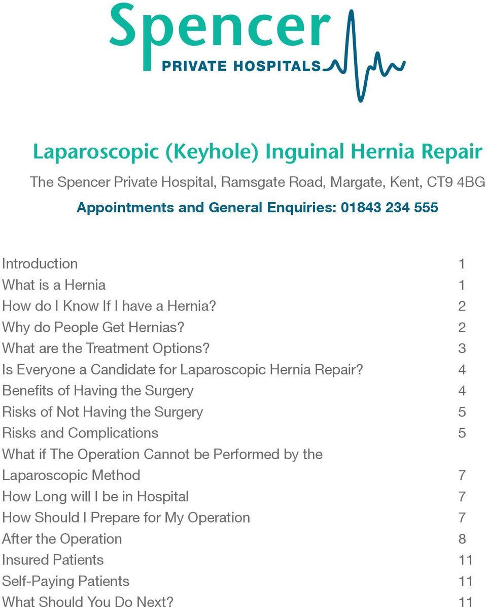 3 Is Everyone a Candidate for Laparoscopic Hernia Repair?