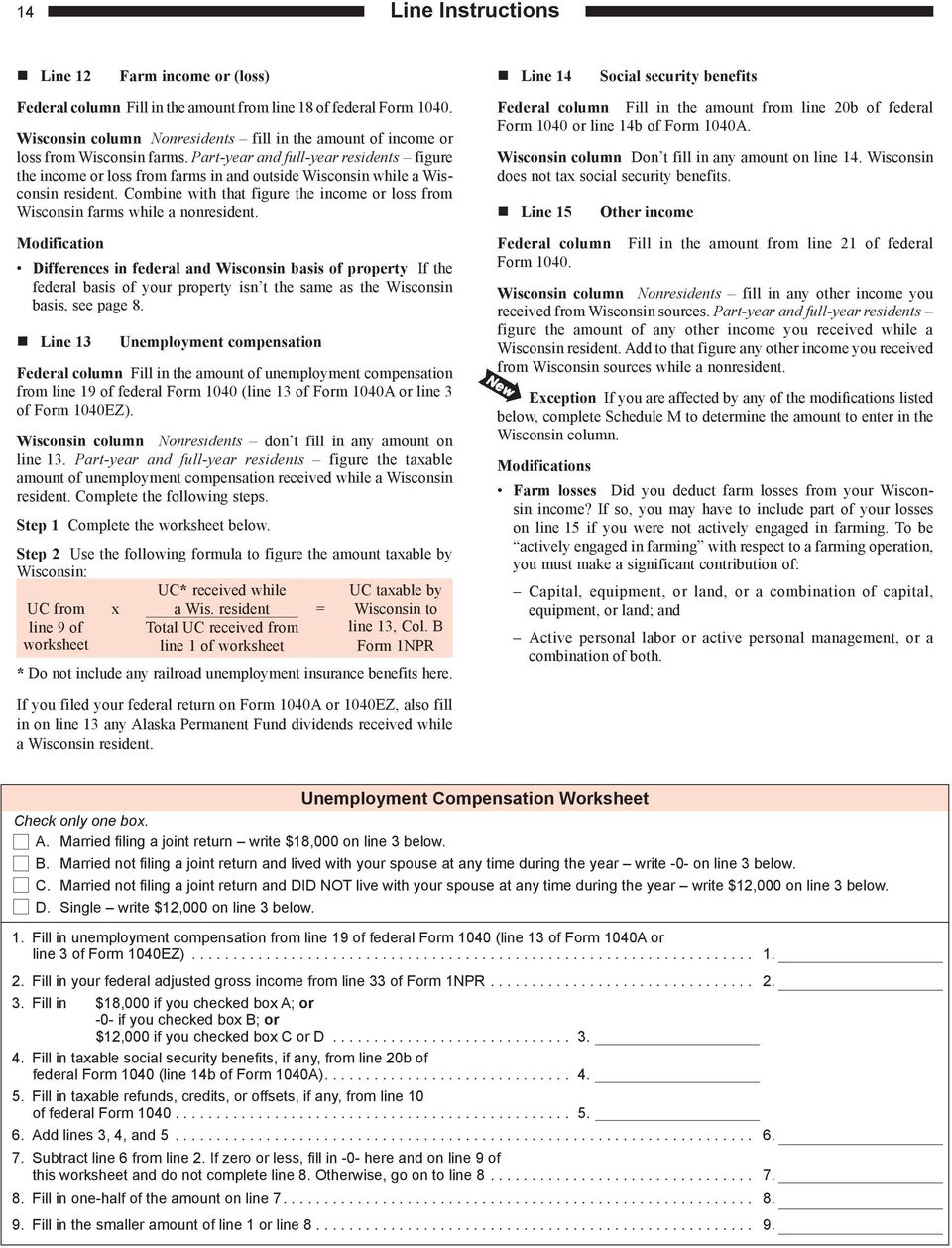 2017 i-152 form 1npr instructions wisconsin income tax for.