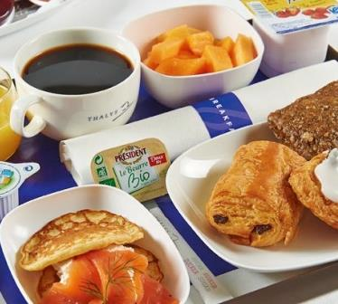 BREAKFAST PRESENTED IN A DISPOSABLE BOX WITH: Coffee, tea, Sugar and milk.