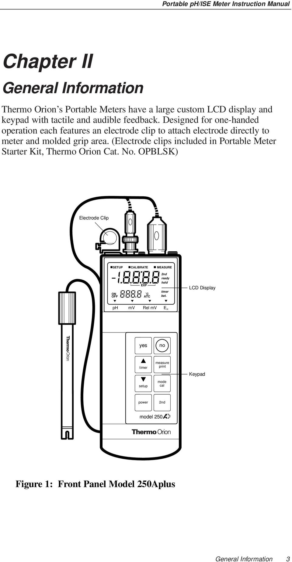 (Electrode clips included in Portable Meter Starter Kit, Thermo Orion Cat. No.
