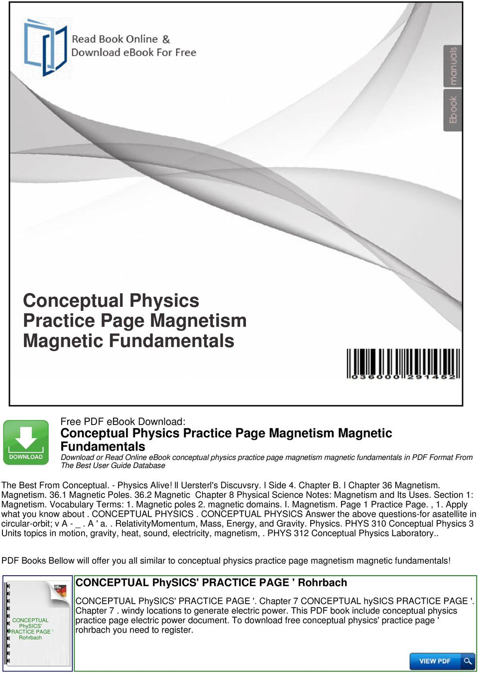 Conceptual physics practice page magnetism magnetic fundamentals pdf vocabulary terms 1 magnetic poles 2 magnetic domains fandeluxe Gallery