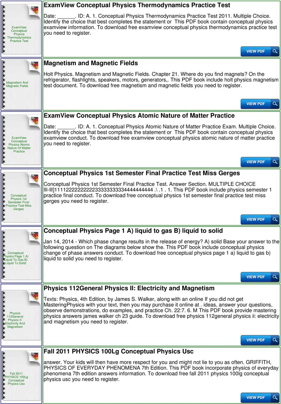 Conceptual physics practice page magnetism magnetic fundamentals pdf to download free examview conceptual physics thermodynamics practice test and magnetic fields and magnetic fields holt fandeluxe Gallery