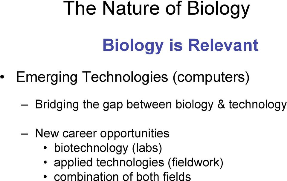 technology New career opportunities biotechnology