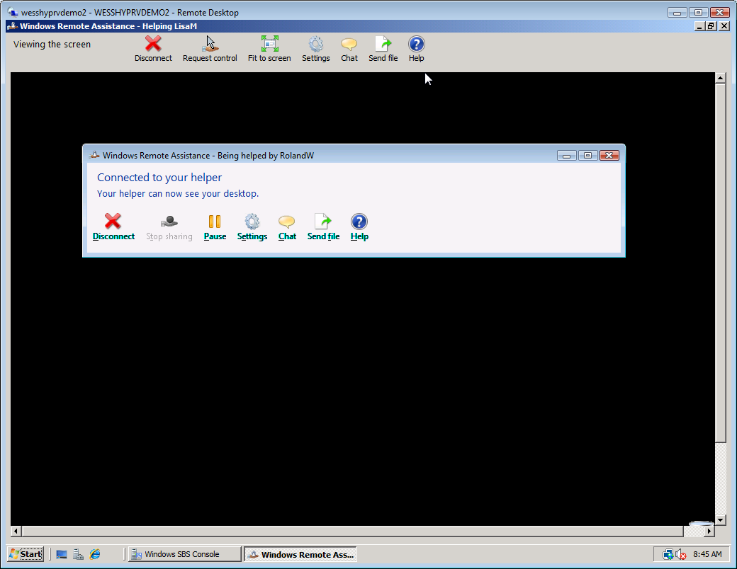 Working with Clients in Windows Small Business Server 2008 16 7. Switch back to the SERVER VM. 8.