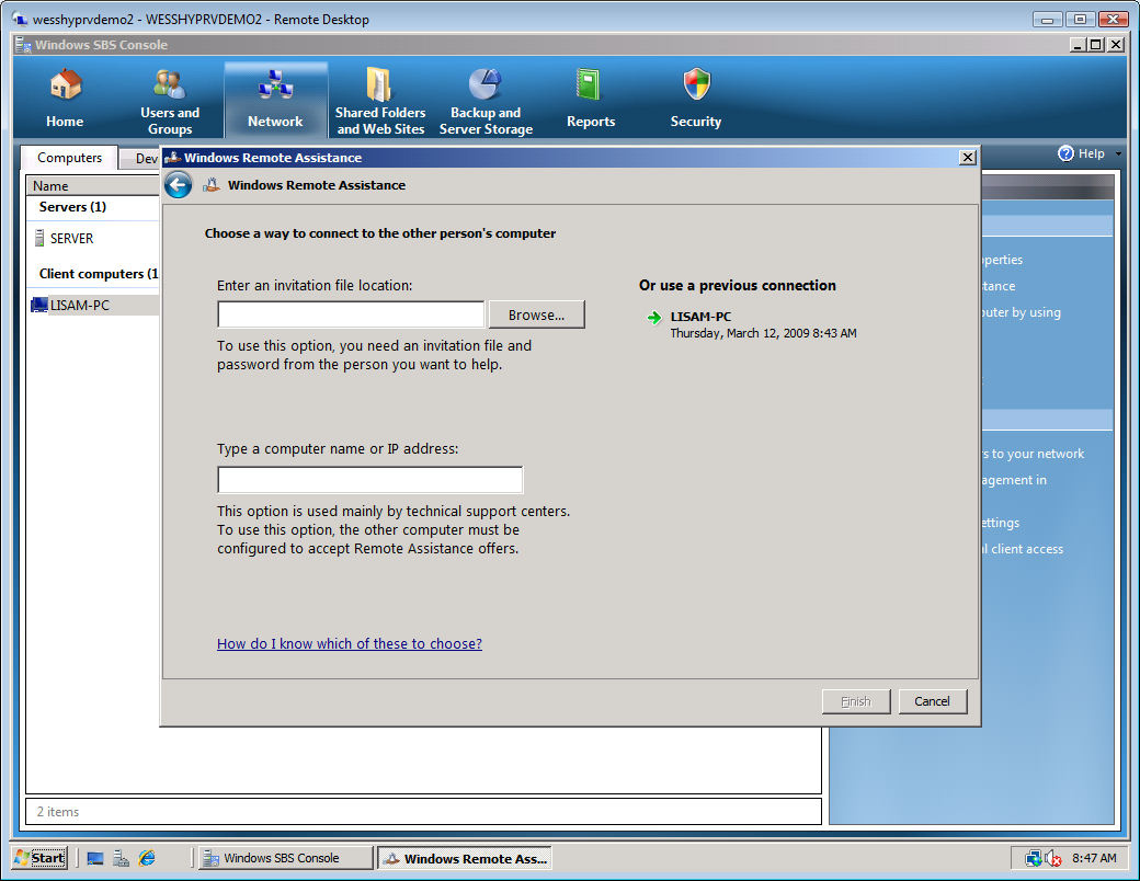 Working with Clients in Windows Small Business Server 2008 17 9.