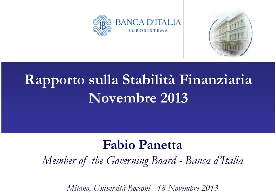 the Governing Board - Banca d Italia