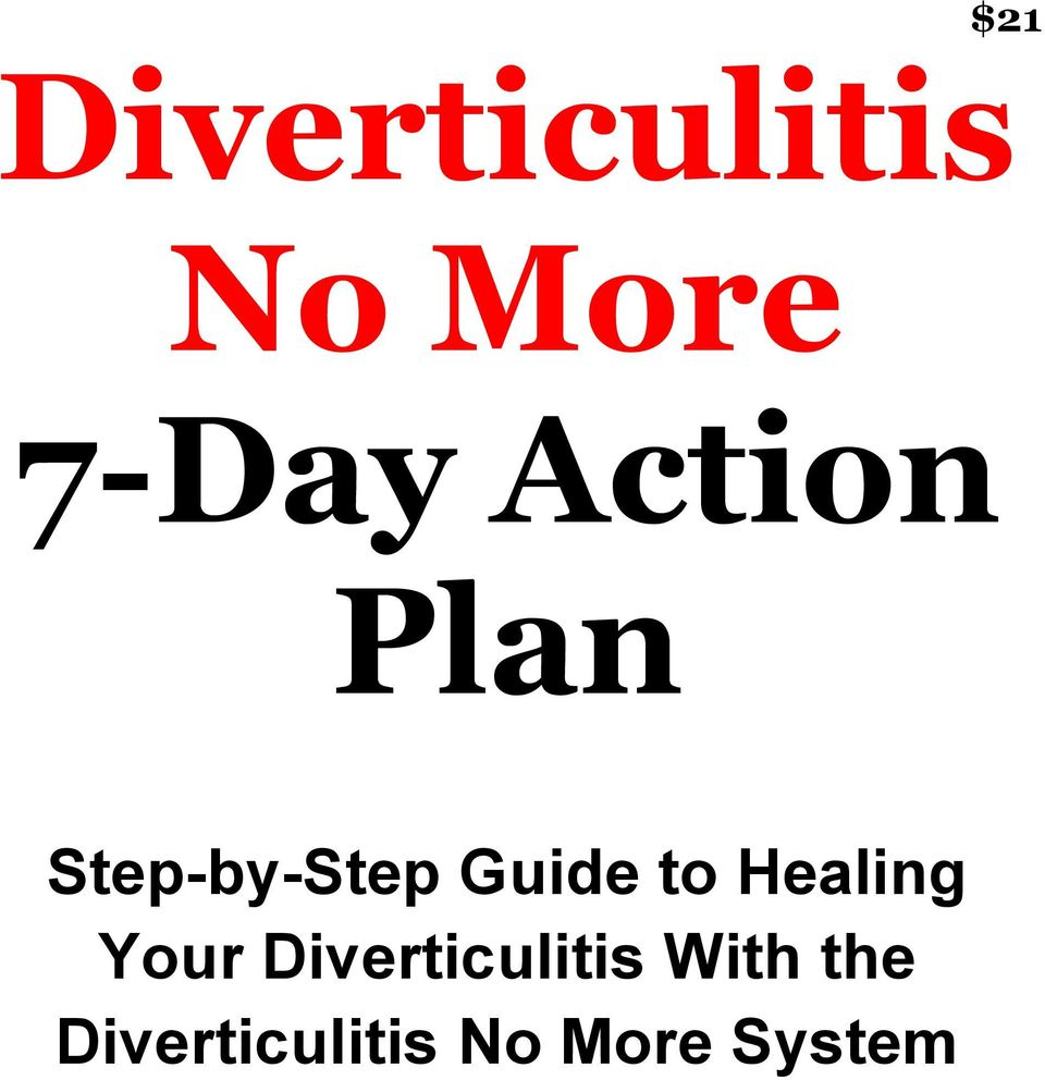 Healing Your Diverticulitis With