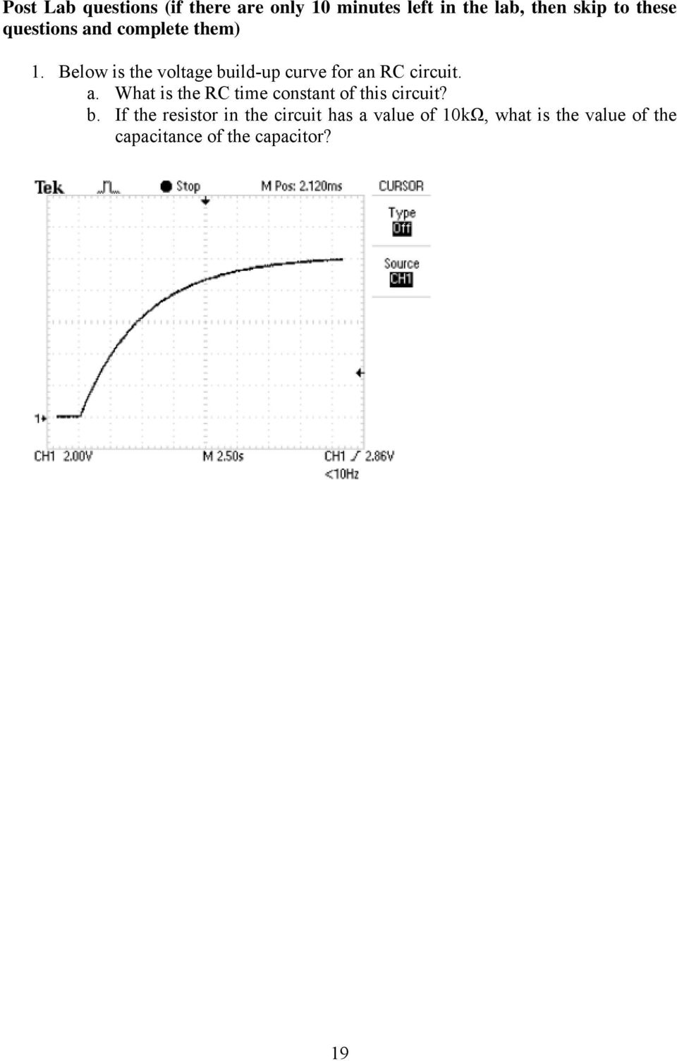 Below is the voltage build-up curve for an
