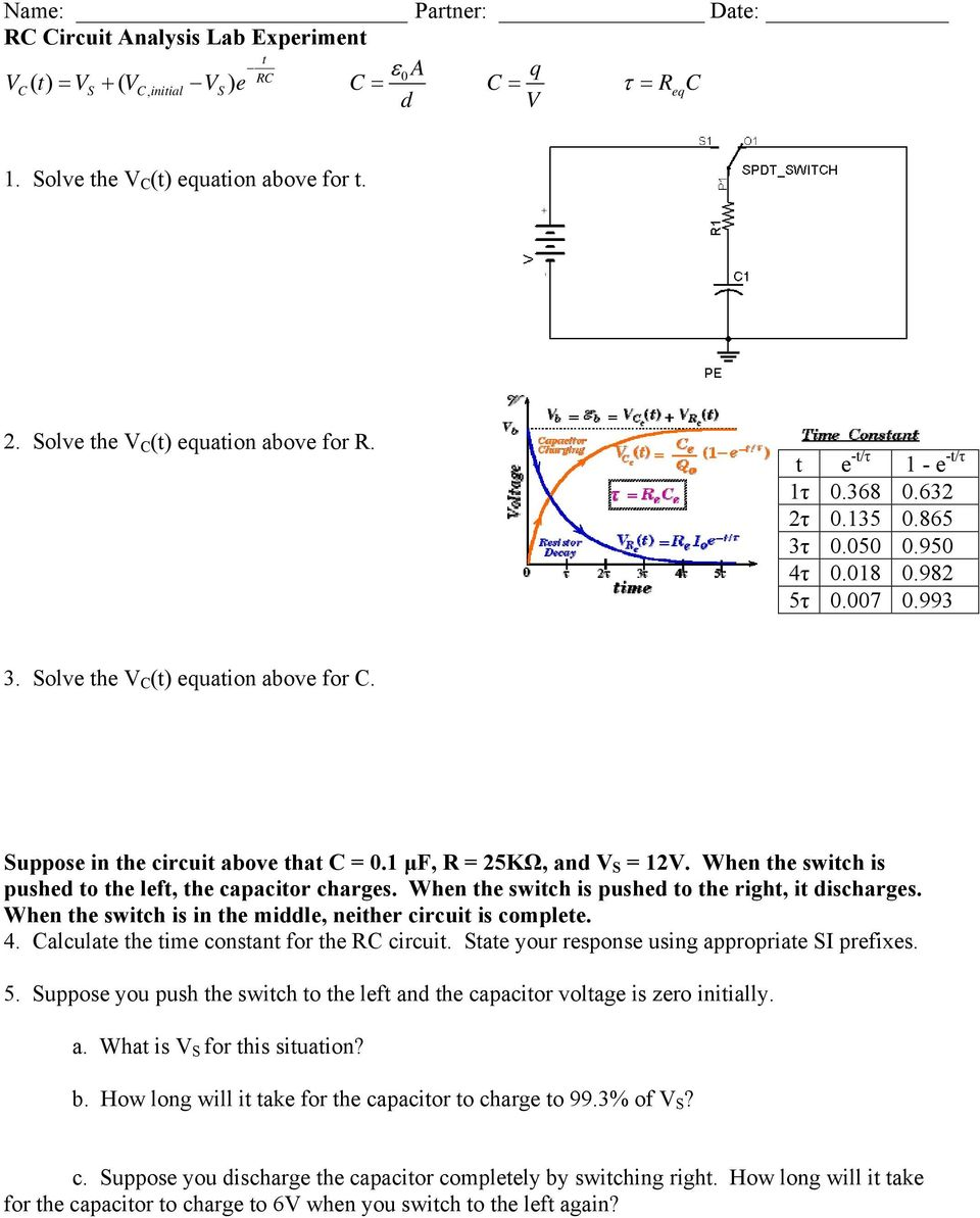 Suppose in the circuit above that C = 0.1 μf, R = 25KΩ, and
