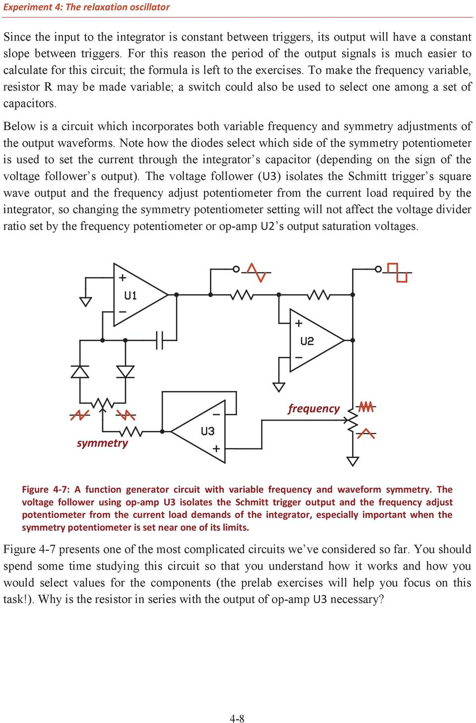 Comparators Positive Feedback And Relaxation Oscillators Pdf Circuits Gt Simple Example For The Lm386 Ic Audio Amplifier To Make Frequency Variable Resistor May Be Made A Switch Could Also