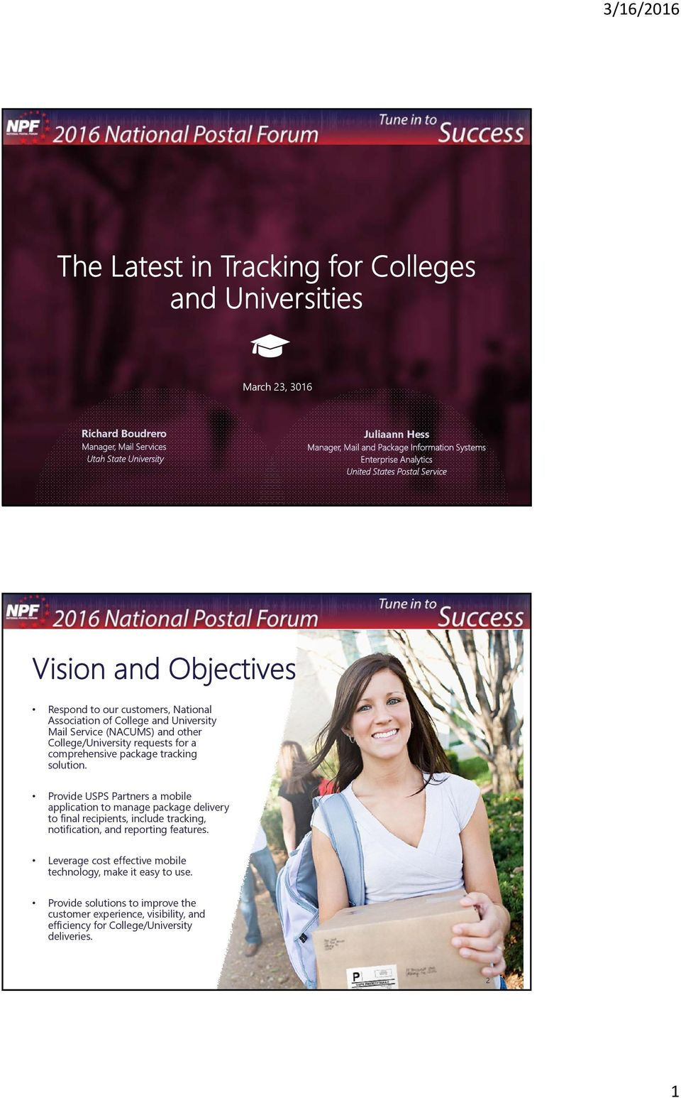 The Latest in Tracking for Colleges and Universities - PDF