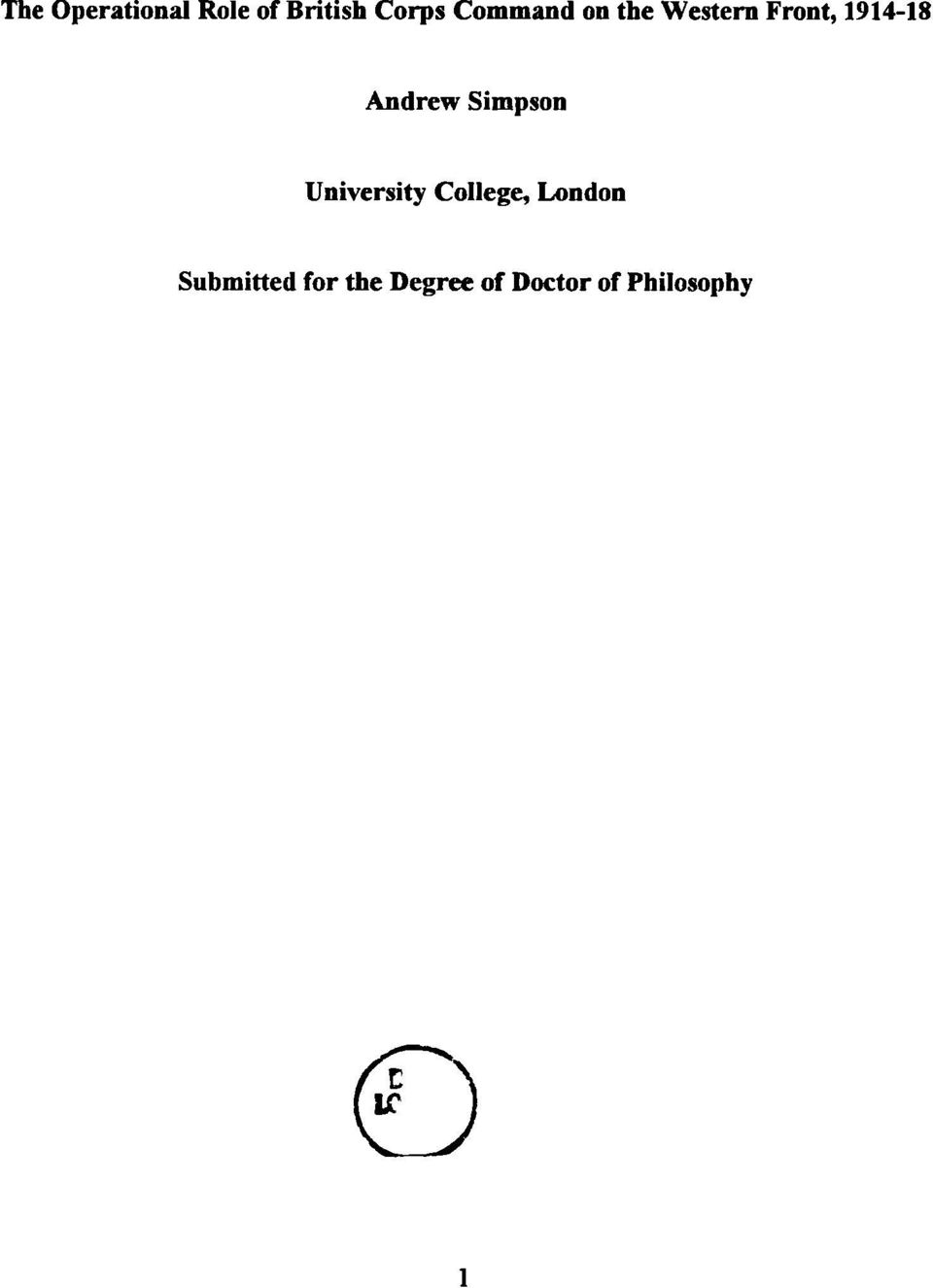 Doctor literature philosophy thesis