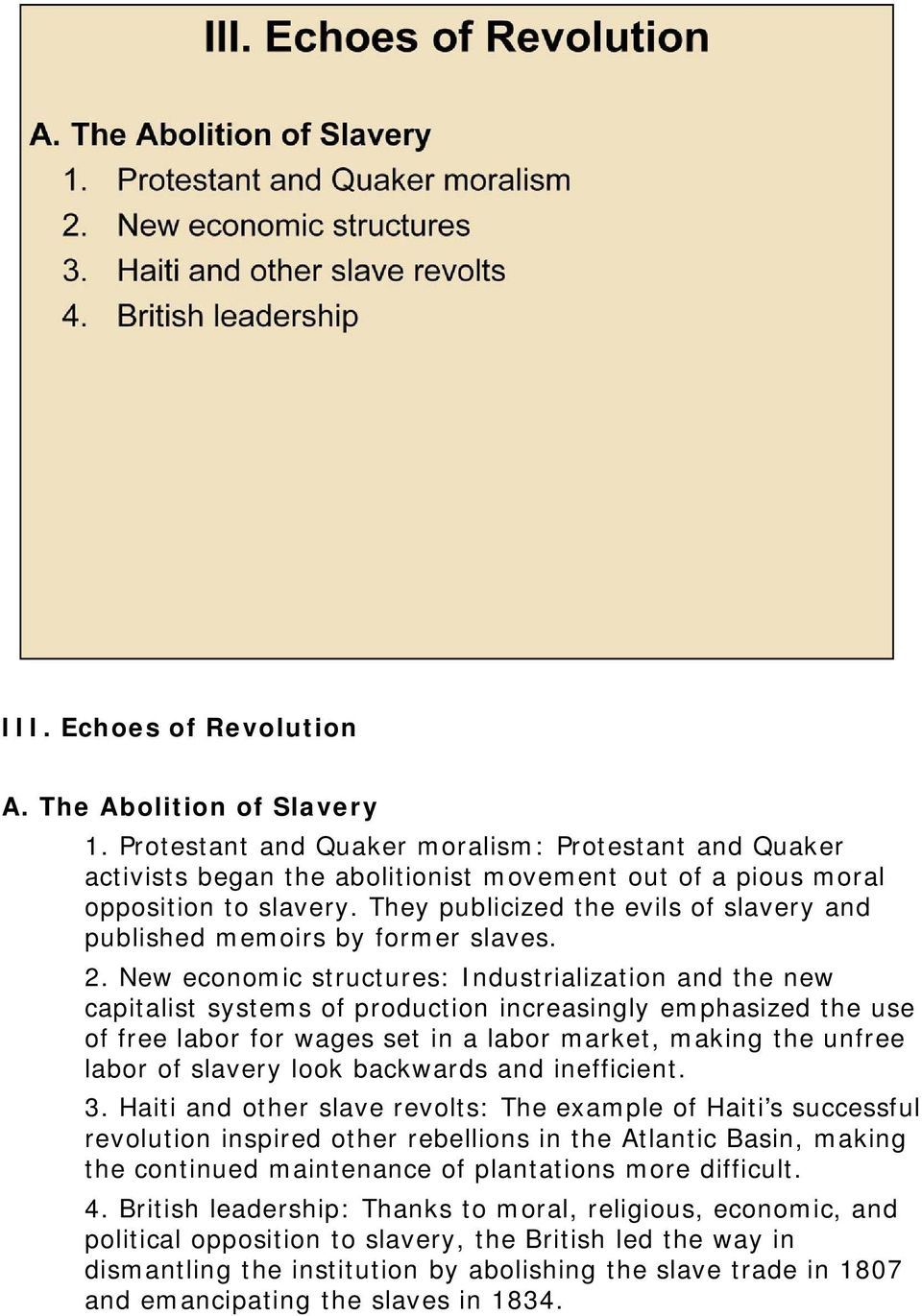 a look at slavery as a social and economic institution Seven lies, half-truths, and irrelevancies people trot out  of economic and social  and expansion of slavery the institution was protected in.