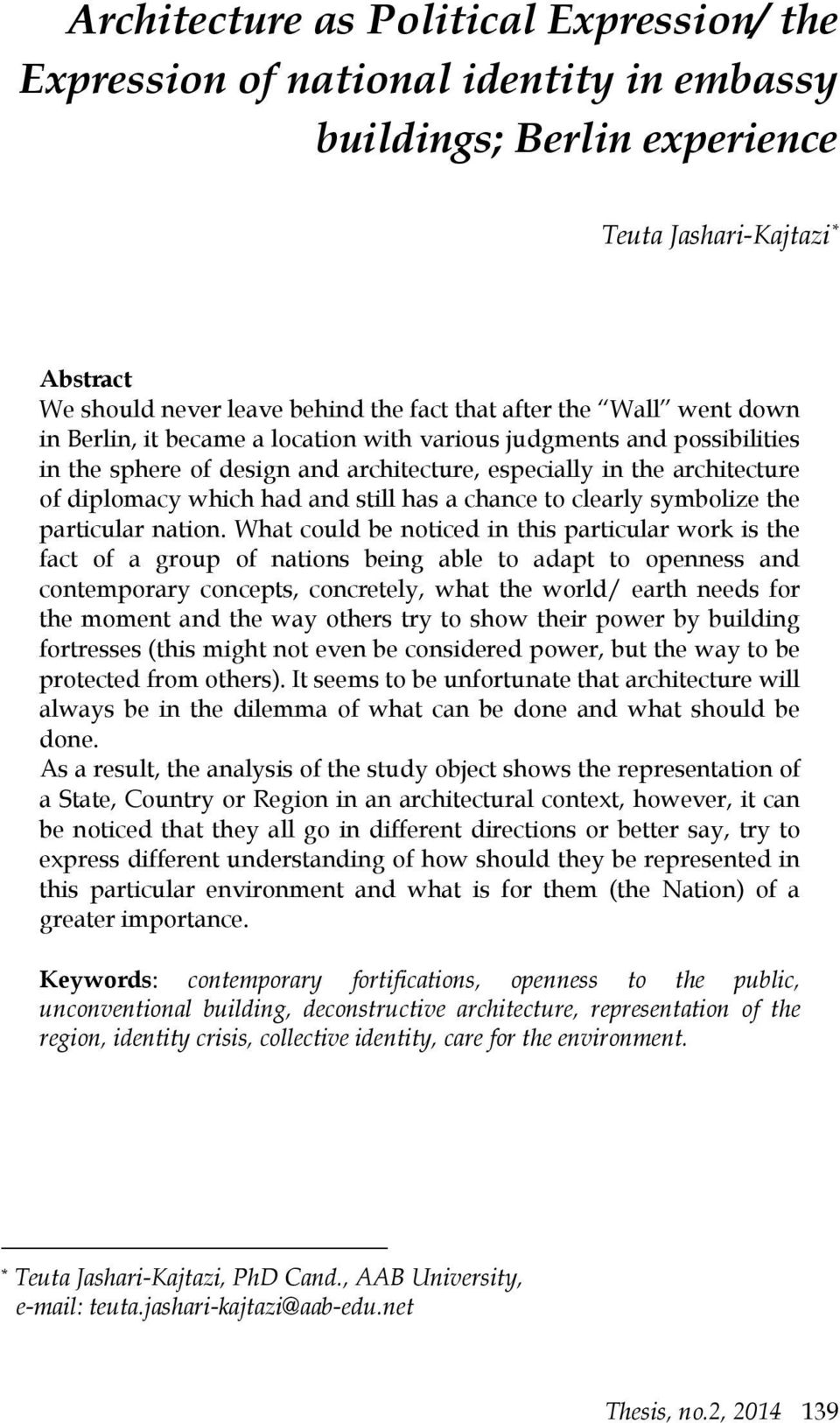 national identity in relation to architecture pdf