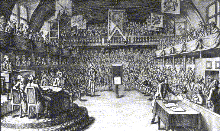 The 3rd Estate (majority of the citizens) finally decided to meet separately since nothing was accomplished at the last meeting of the Estates General at the Versailles Palace.
