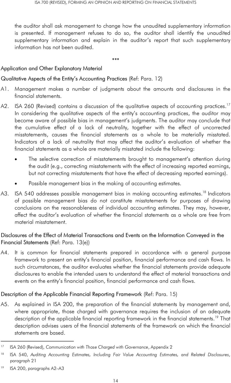 Application and Other Explanatory Material Qualitative Aspects of the Entity s Accounting Practices (Ref: Para. 12) *** A1.