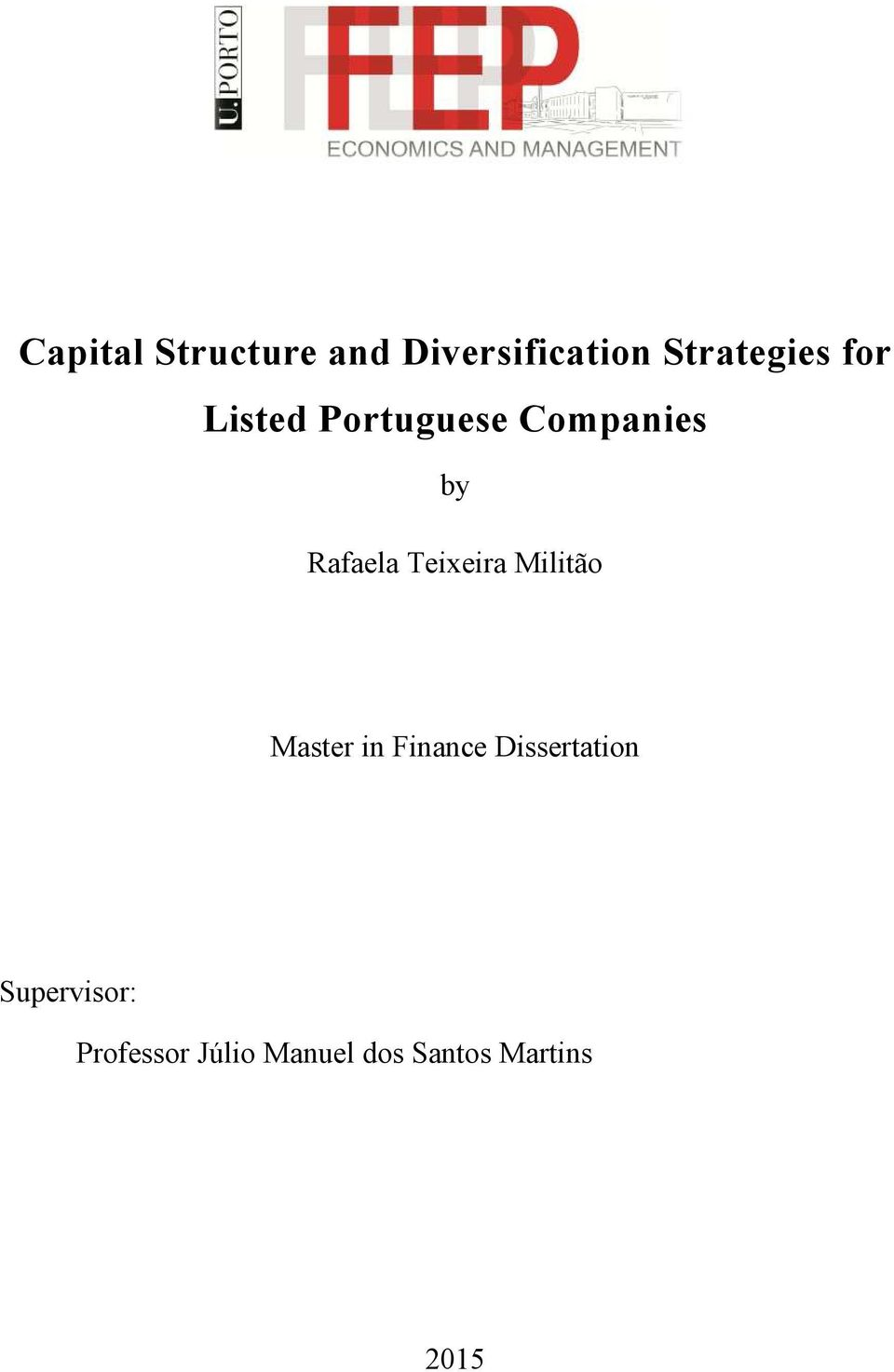 Teixeira Militão Master in Finance Dissertation