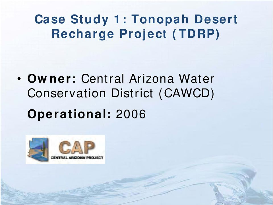 Central Arizona Water