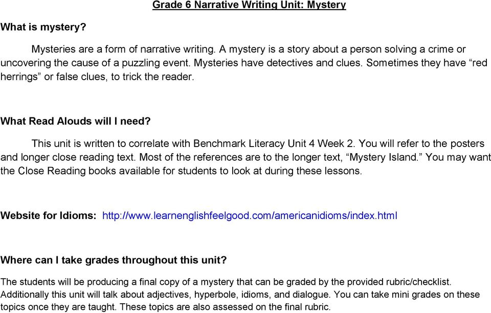 This unit is written to correlate with Benchmark Literacy Unit 4 Week 2. You will refer to the posters and longer close reading text. Most of the references are to the longer text, Island.