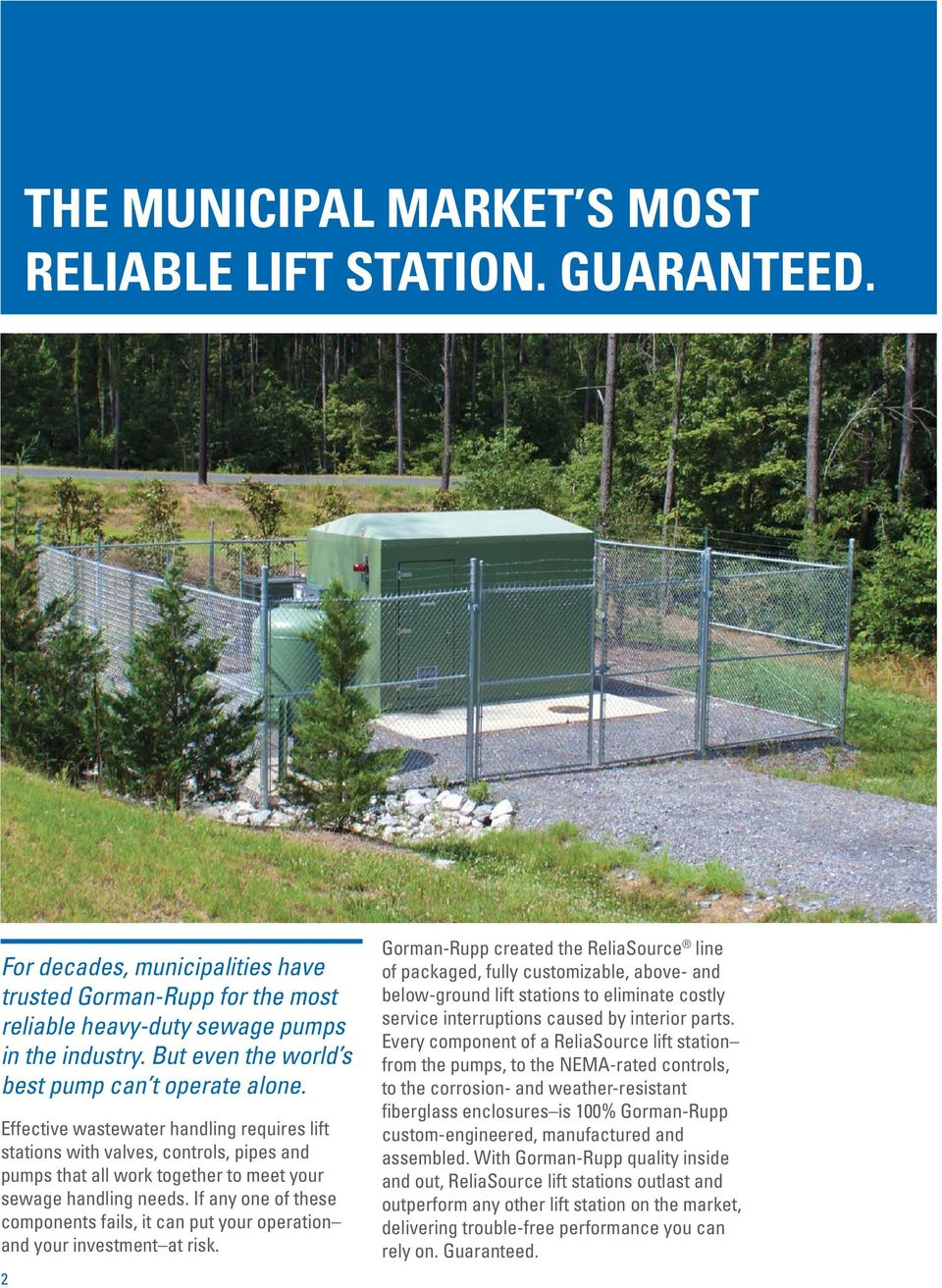 municipal industrial your single source for total lift station effective wastewater handling requires lift stations valves controls pipes and pumps that all