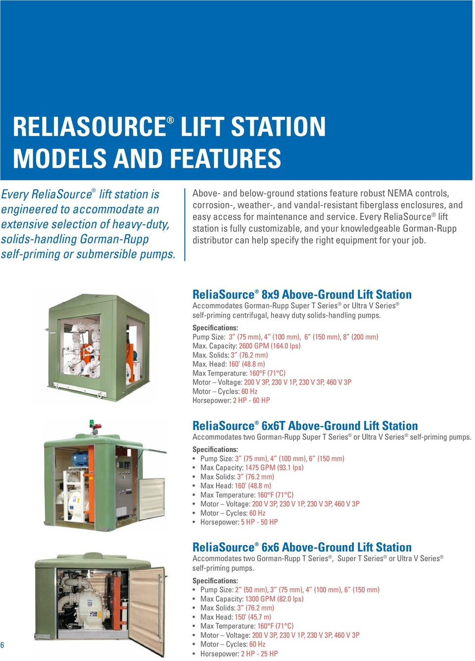 municipal industrial your single source for total lift station every reliasource lift station is fully customizable and your knowledgeable gorman rupp distributor can