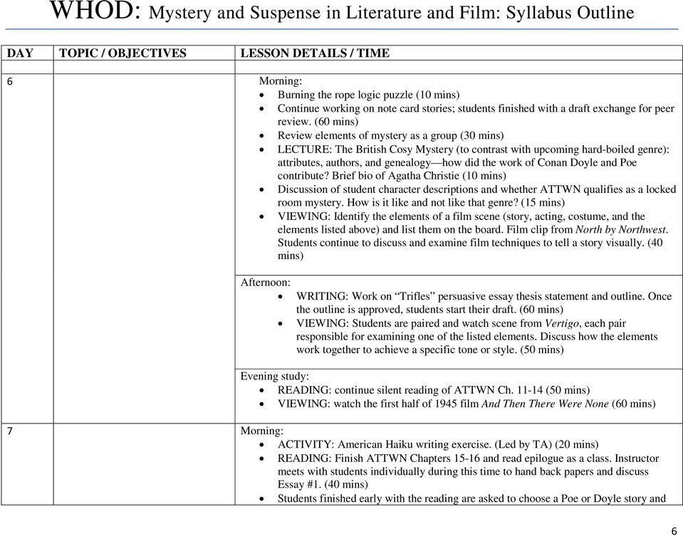 and then there were none suspense essay Quarter 1 essay - starry - free download as word doc parallelism, and personification to portray suspense and then there were none by christie is a novel fueled.