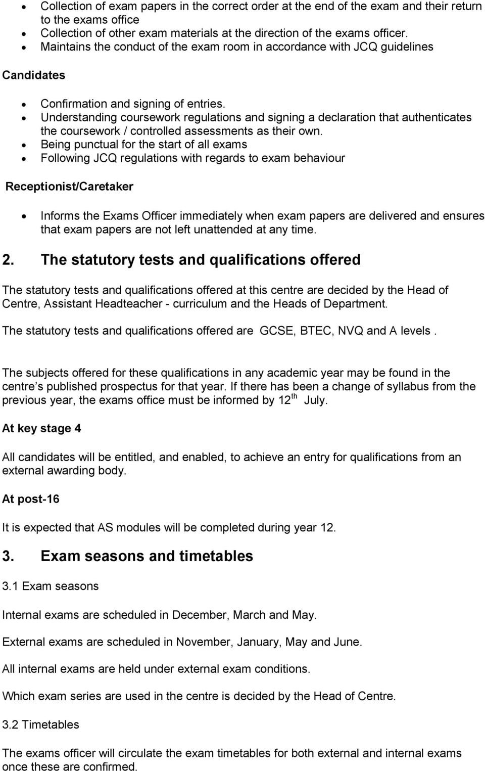 jcq coursework guidelines 2014