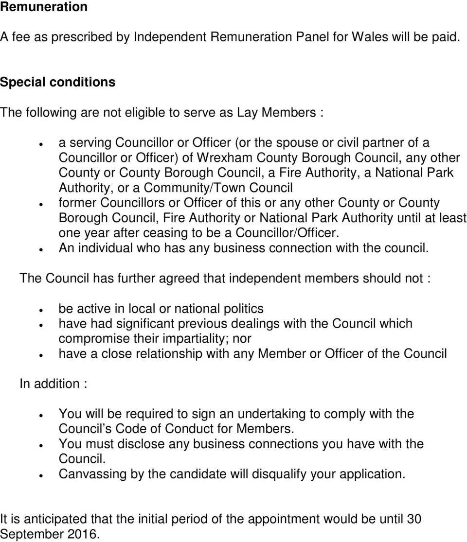 Council, any other County or County Borough Council, a Fire Authority, a National Park Authority, or a Community/Town Council former Councillors or Officer of this or any other County or County