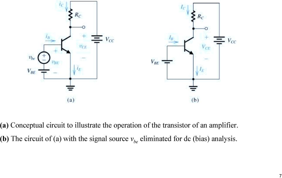 (b) The circuit of (a) with the signal