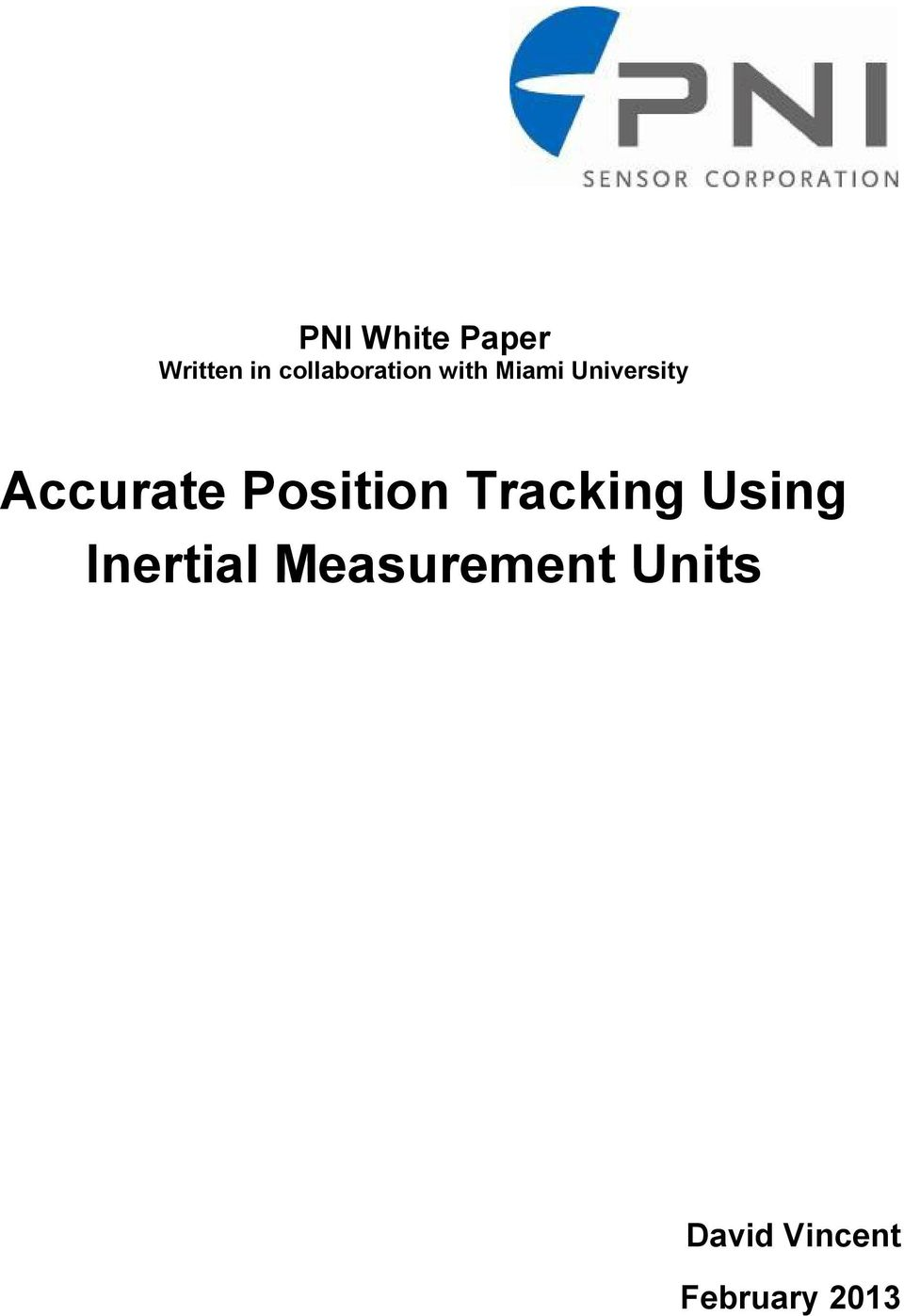 Accurate Position Tracking Using