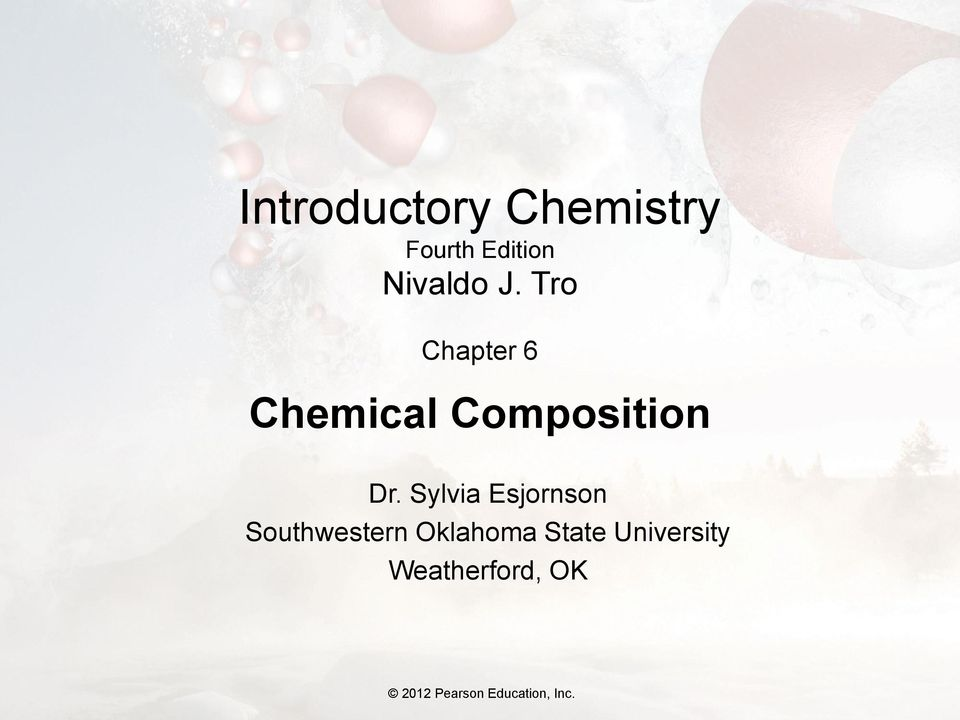 Tro Chapter 6 Chemical Composition Dr.