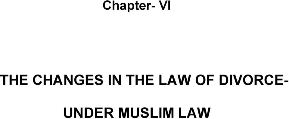 grounds of divorce under muslim law
