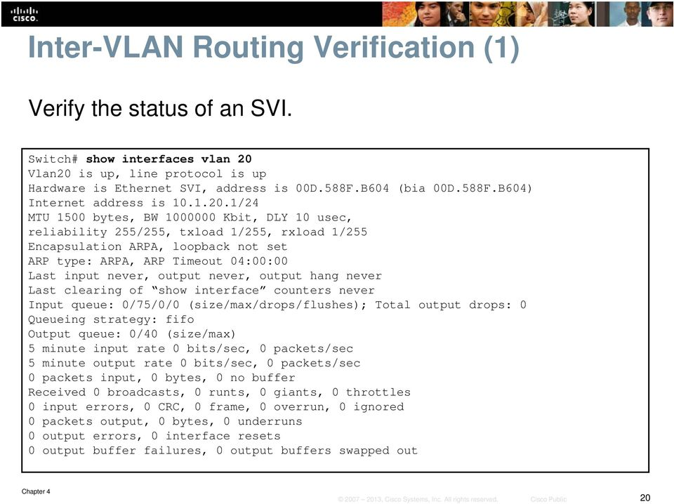 Chapter 4: Implementing Inter-VLAN Routing  SWITCHv6 Chapter