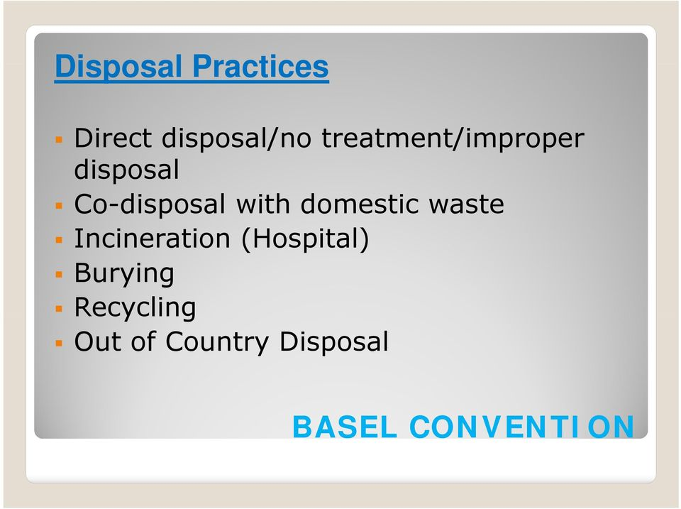 domestic waste Incineration (Hospital)
