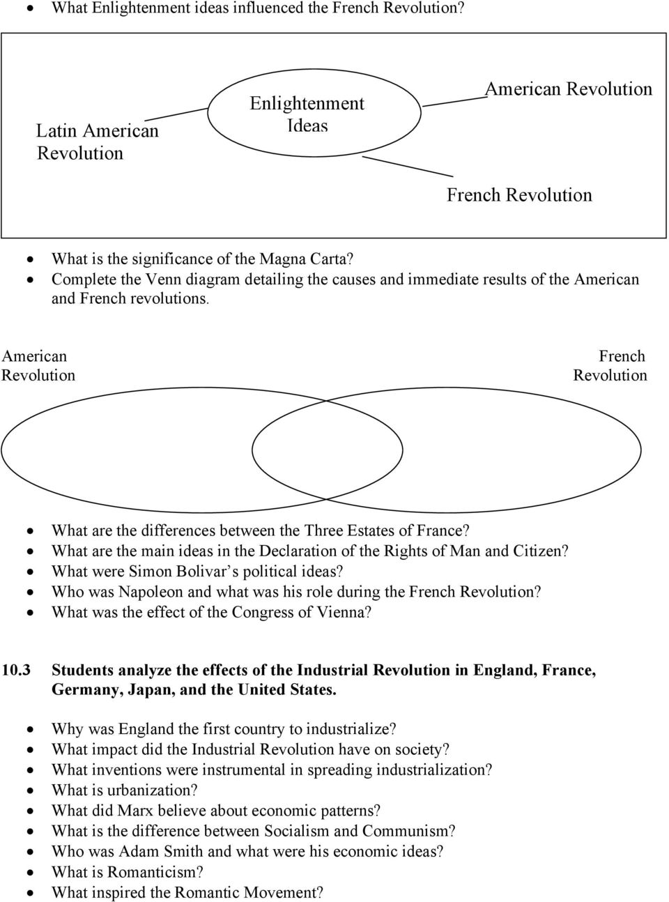 comparing the french and american revolution
