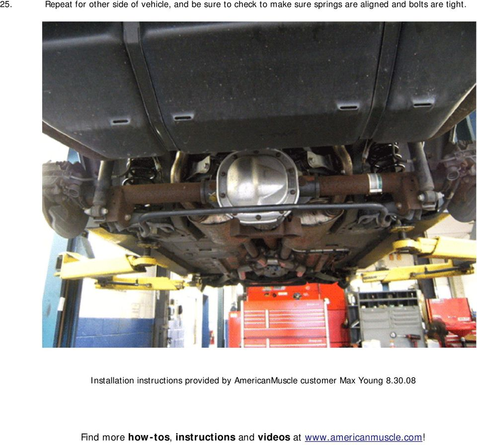 Installation instructions provided by AmericanMuscle customer Max