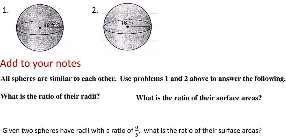What is the ratio of their radii?