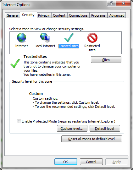 2. Click the Security tab 3.