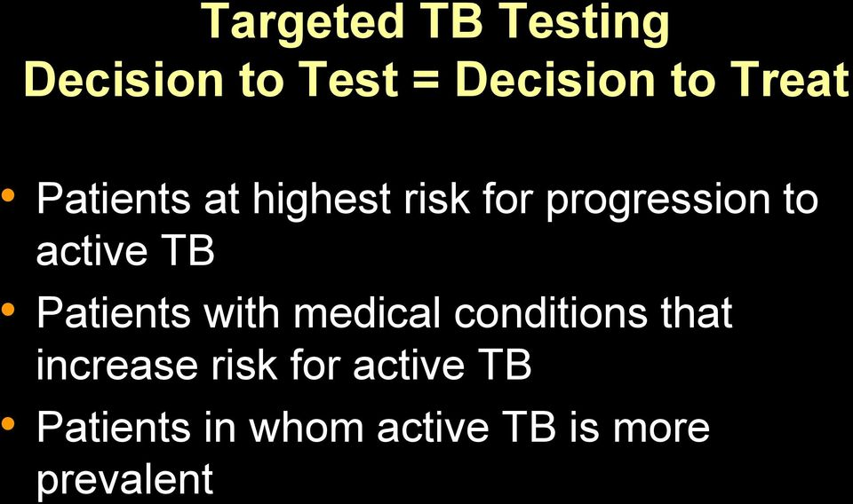 active TB Patients with medical conditions that