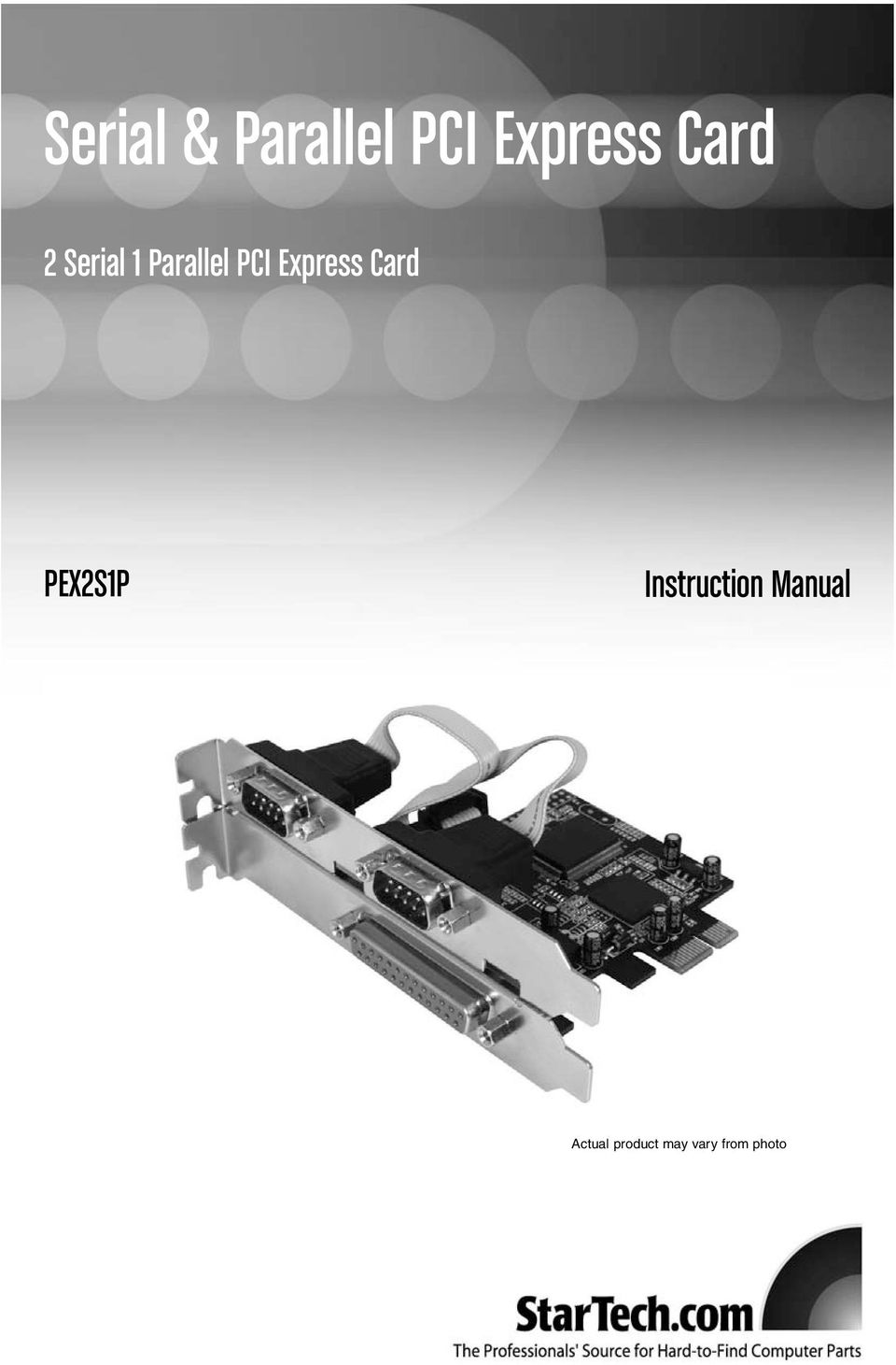 Parallel PCI Express Card