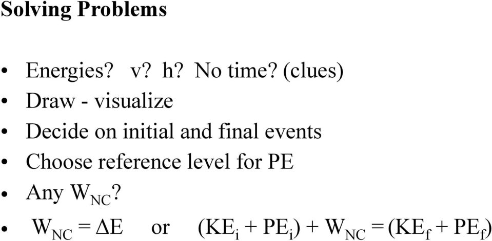 final events Choose reference level for PE Any W