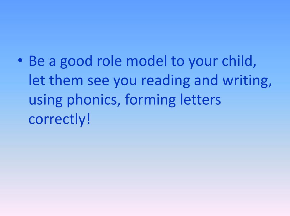 reading and writing, using