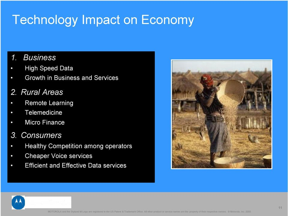 Rural Areas Remote Learning Telemedicine Micro Finance 3.