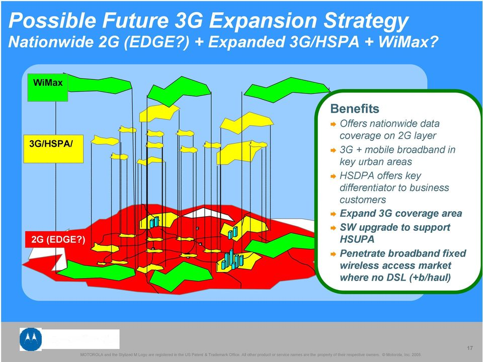 ) Benefits Offers nationwide data coverage on 2G layer 3G + mobile broadband in key urban areas